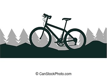 bicycle nature landscape mountain trees