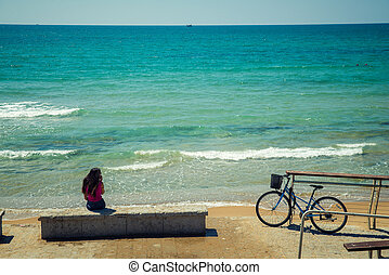 bicycle  near the sea
