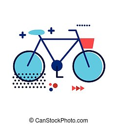 bicycle old flat style icon