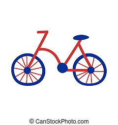 bicycle old hand draw style icon