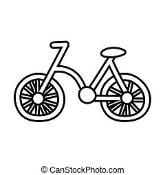 bicycle old line style icon