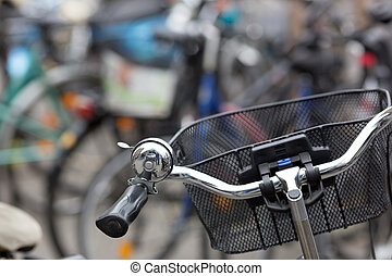 Bicycle on a parking