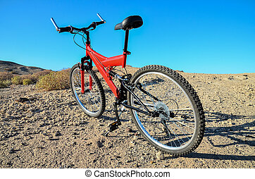 bicycle on beach, digital photo picture as a background