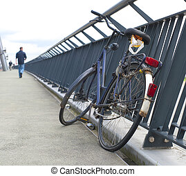 bicycle on bridge