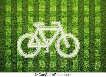 bicycle on grass field