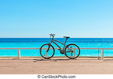 Bicycle on Promenade des Anglais.