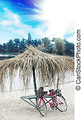 bicycle on the river