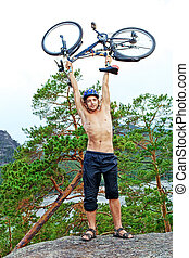 bicycle on top