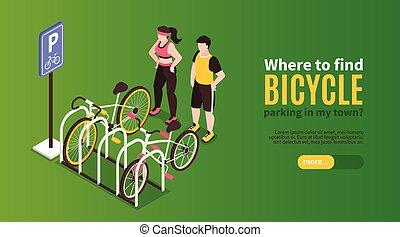 Bicycle Parking Horizontal Banner
