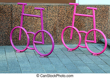 bicycle parking in the form of a bicycle