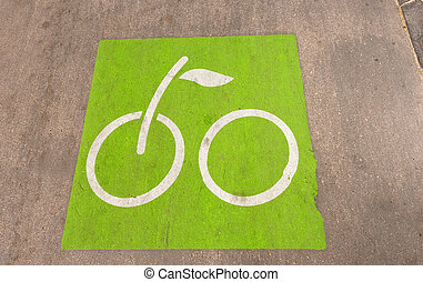 Bicycle Path in Barcelona Spain