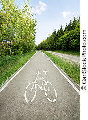Bicycle path in the park.