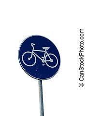 Bicycle path road sign.