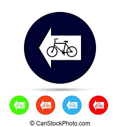 Bicycle path trail sign icon. Cycle path.