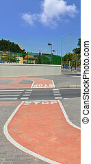 Bicycle Pedestrian Path Crosswalk