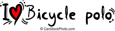 Bicycle polo love - Creative design of bicycle polo love