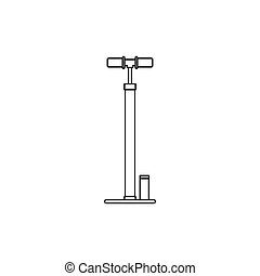 Bicycle pump icon, outline style