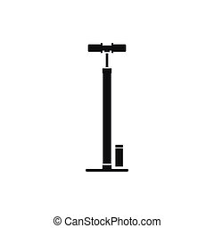 Bicycle pump icon, simple style