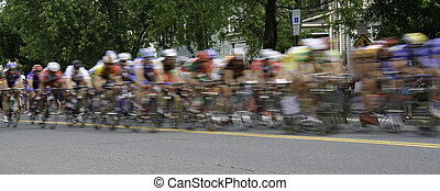 Bicycle Race Panarama
