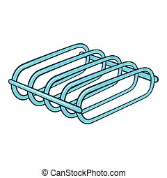 Bicycle rack icon, cartoon style