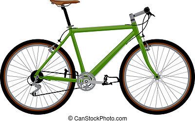 Realistic bicycle illustration.
