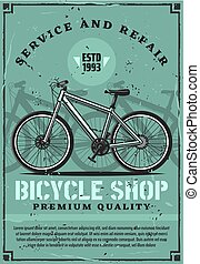Bicycle rent, repair and fixing service