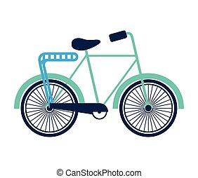 bicycle retro isolated icon design