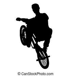 Bicycle rider 4 vector