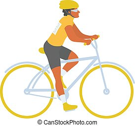 Bicycle rider sports man on cycling competition