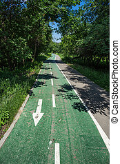 Bicycle road in the park