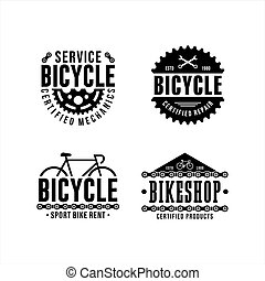 Bicycle Service logo design collection