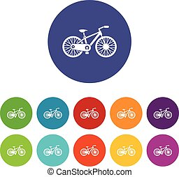 Bicycle set icons