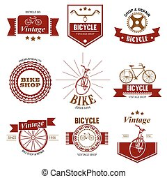 Bicycle Shop and Repair Logo