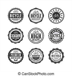 Bicycle shop service Badge Stamp Collection