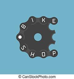 Bicycle shop vector logo