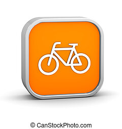 Bicycle sign on a white background. Part of a series.