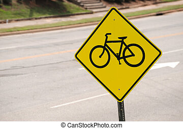 bicycle sign on the street