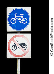 Bicycle sign