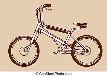 bicycle silhouette on yellow background