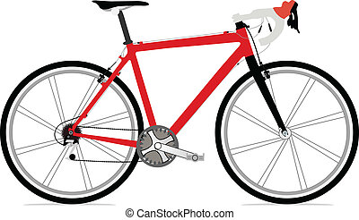 Bicycle - Single bicycle illustration icon with a lot of...