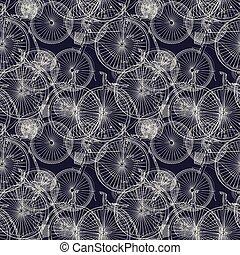 Bicycle sketch pattern
