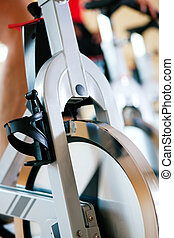 Bicycle Spinning in gym