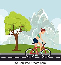 Bicycle sport competition