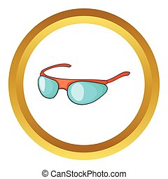 Bicycle sport glasses vector icon
