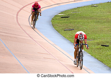 Bicycle Sprint Race - Image of participants in a cycling...