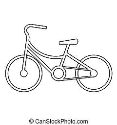 bicycle symbol design vector