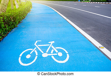 bicycle symbol lane