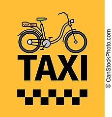 Bicycle taxi transport poster