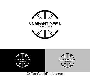 Bicycle Tire Logo Design Element