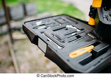 Bicycle tools, bike equipment, toolbox